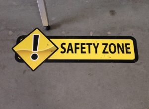 Construction Signs safety floor vinyl graphics 300x220
