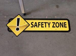 Warehouse Signs safety floor vinyl graphics 300x220